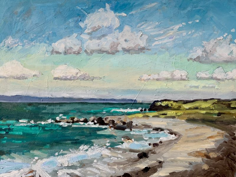 """<span class=""""entry-title-primary"""">Green Sea</span> <span class=""""entry-subtitle"""">12 x 16, oil on cradled panel</span>"""
