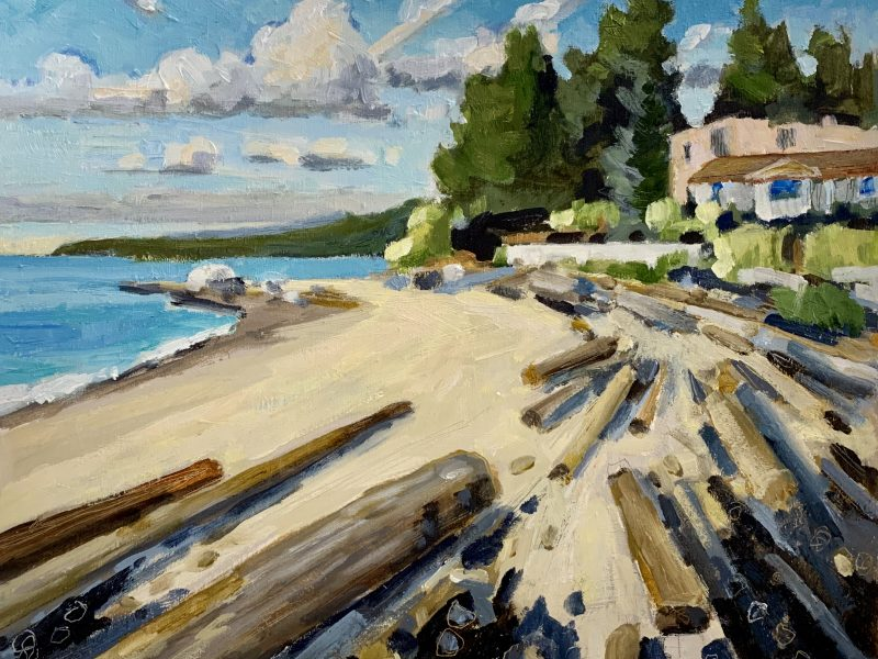 """<span class=""""entry-title-primary"""">Dundarave Beach – SOLD</span> <span class=""""entry-subtitle"""">8 x 10 oil on board</span>"""