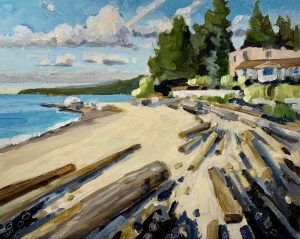 Dundarave Beach – SOLD 8 x 10 oil on board