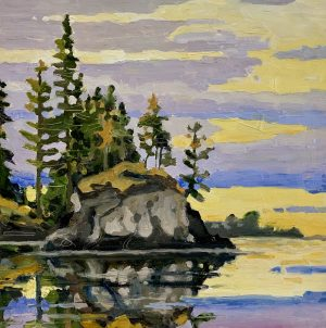 Eagle Harbour Colour 10 x 10, oil on birch panel