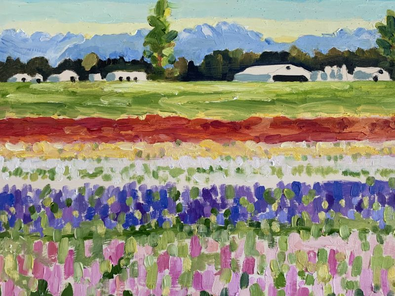 """<span class=""""entry-title-primary"""">Colourful Chilliwack Stripes – SOLD</span> <span class=""""entry-subtitle"""">8 x 10, oil on panel</span>"""