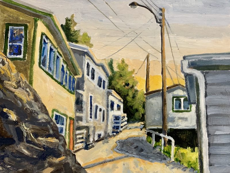 """<span class=""""entry-title-primary"""">The Battery, Newfoundland</span> <span class=""""entry-subtitle"""">8 x 10, oil on board</span>"""