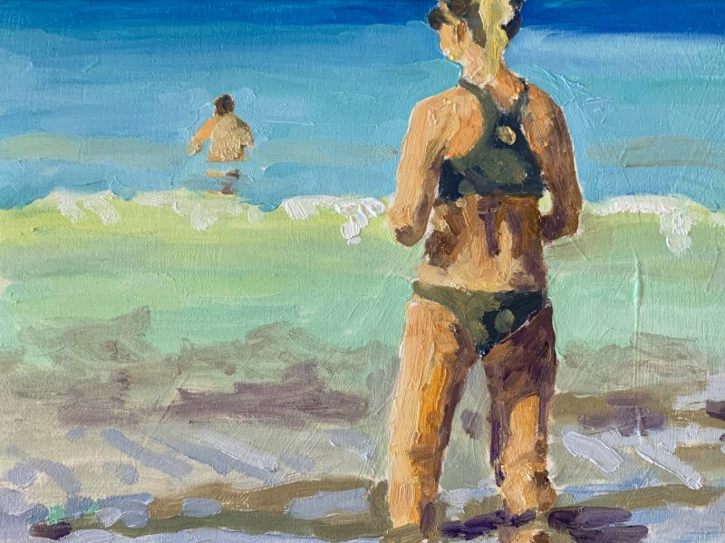 """<span class=""""entry-title-primary"""">Sea and Sun,</span> <span class=""""entry-subtitle"""">8 x 8, oil on board</span>"""