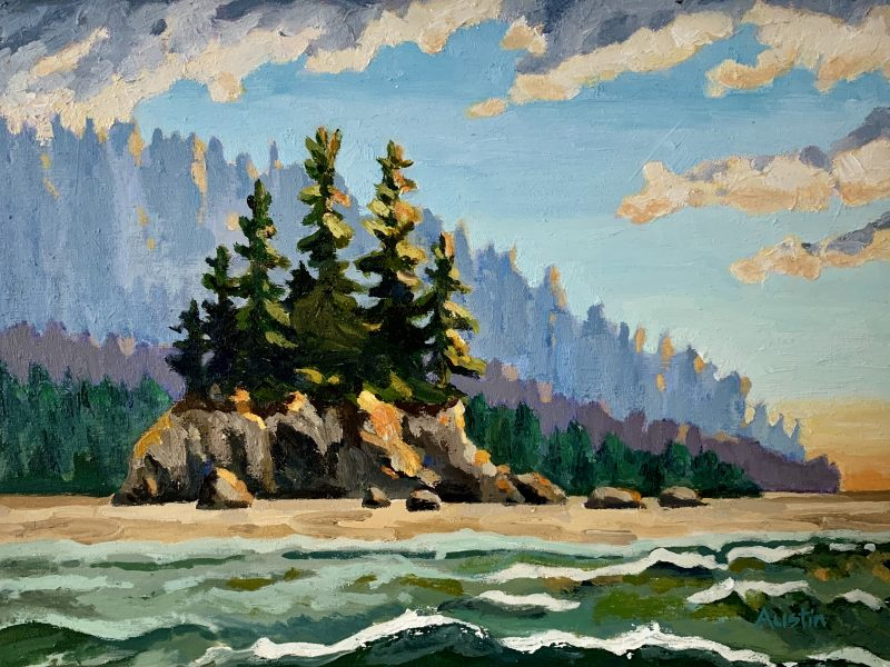 """<span class=""""entry-title-primary"""">West Coast Habitat – SOLD</span> <span class=""""entry-subtitle"""">9 x 12, oil on cradled panel </span>"""
