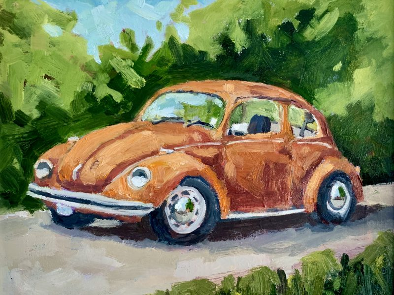 "<span class=""entry-title-primary"">Orange VW Bug</span> <span class=""entry-subtitle"">8 x 10, oil on board </span>"