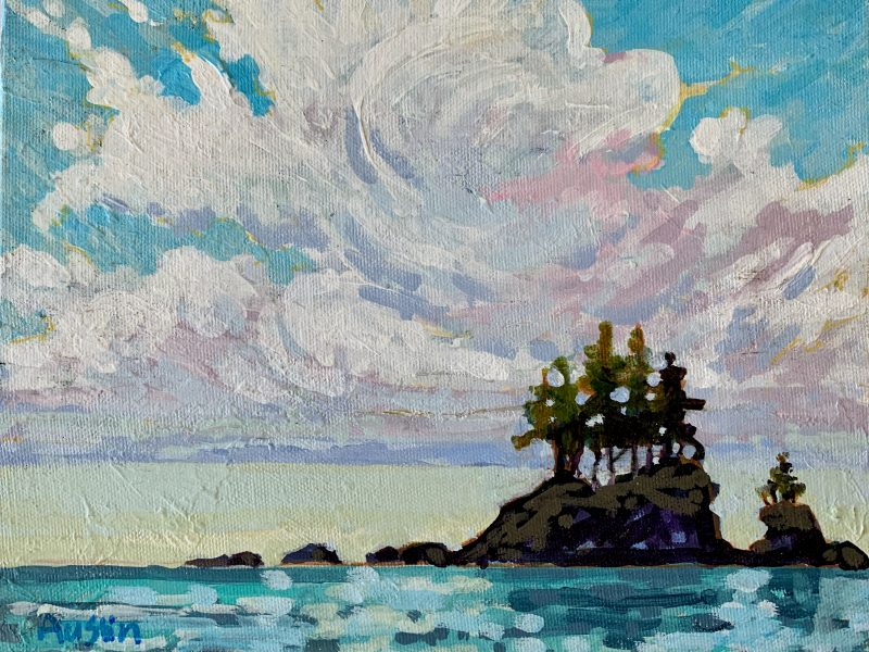 """<span class=""""entry-title-primary"""">West Coast Cloud</span> <span class=""""entry-subtitle"""">8 x 10, acrylic on canvas</span>"""