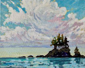 West Coast Cloud 8 x 10, acrylic on canvas