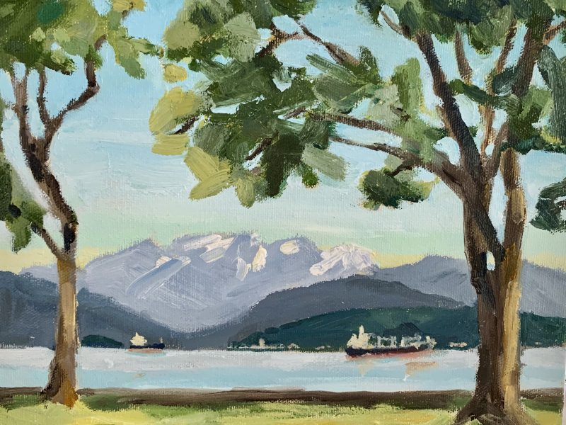 """<span class=""""entry-title-primary"""">Locarno Beach View</span> <span class=""""entry-subtitle"""">8 x 10, oil on canvas</span>"""