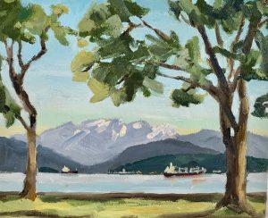 Locarno Beach View 8 x 10, oil on canvas
