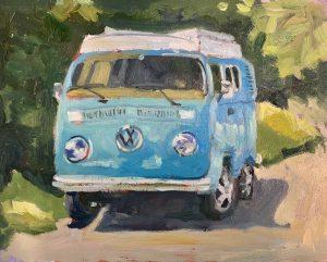 VW Classic – SOLD 8 x 10, oil on birch board