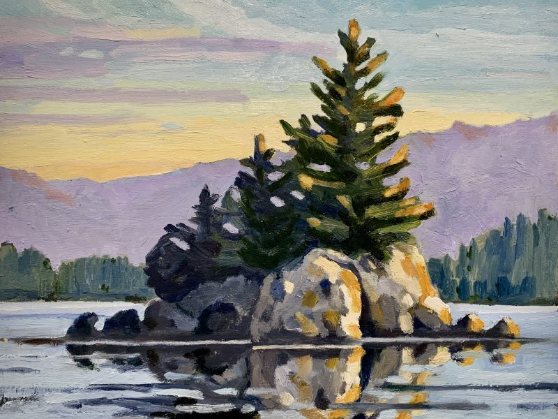 """<span class=""""entry-title-primary"""">Barkley Sound Islet – SOLD</span> <span class=""""entry-subtitle"""">11 x 14, oil on cradled panel</span>"""