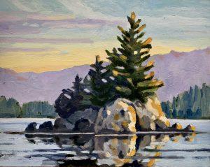 Barkley Sound Islet – SOLD 11 x 14, oil on cradled panel