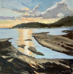 Stearman Beach – SOLD 12 x 12, oil on panel